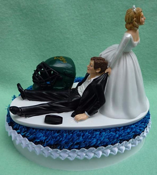 Wedding Cake Topper - Dallas Stars Hockey Themed (We DO Have and WILL USE the New/Current Helmet...)