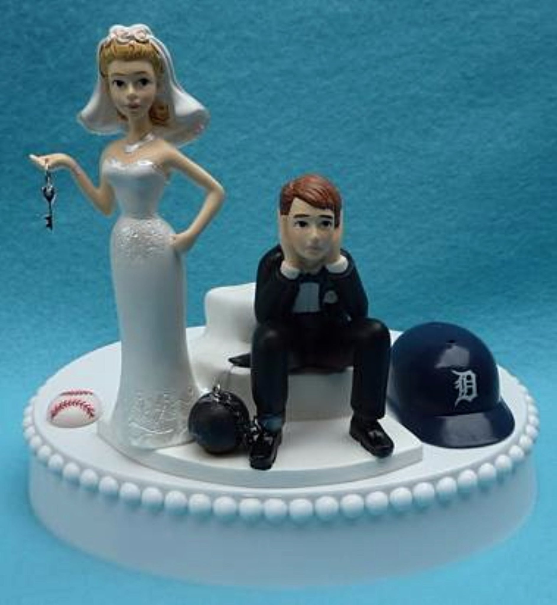 Wedding Cake Topper - Detroit Tigers Baseball Themed Key