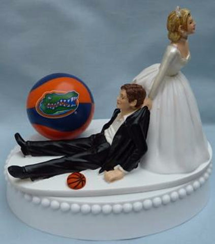 Florida Gators basketball wedding cake topper University of UF sports fans funny bride groom humorous Fun Wedding Things