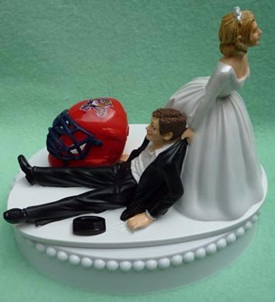 Wedding Cake Topper - Florida Panthers Hockey Themed