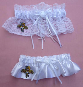 Florida Panthers Wedding Garters Bridal NHL Hockey Set