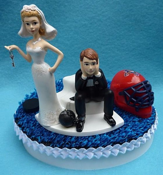 Wedding Cake Topper - Florida Panthers Hockey Themed Key