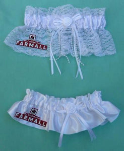 Farmall wedding garters International Harvester IH bridal garter set farmer farm tractor equipment farming funny McCormick reception toss keep Fun Wedding Things