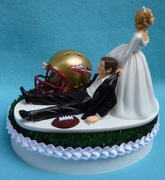 Wedding Cake Topper - Florida St. University Seminoles Football Themed State FSU Noles