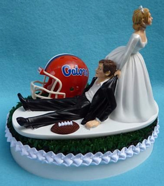 Wedding Cake Topper - University of Florida Gators Football Themed UF
