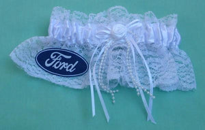 Ford wedding garter bridal garter set car truck vehicle fans funny reception gift idea Fun Wedding Things