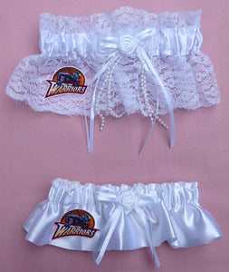 Golden State Warriors Wedding Garter Set Basketball Bridal Garters NBA