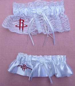 Houston Rockets Garter Wedding Garters Bridal NBA Basketball Sports Fans Reception