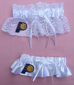 Indiana Pacers Garter Wedding Garters Set Bridal Basketball NBA Indy Reception Toss Keep