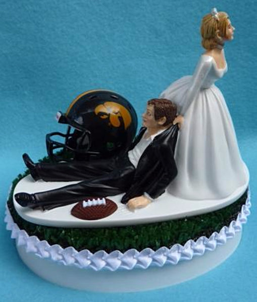 Wedding Cake Topper - University of Iowa Hawkeyes Football Themed