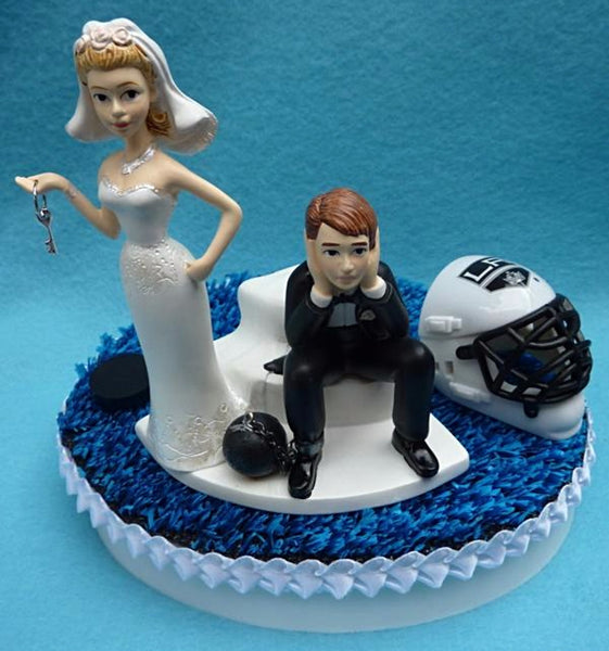 Wedding Cake Topper - Los Angeles Kings Hockey Themed Key LA
