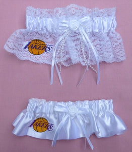 Los Angeles Lakers Garter LA Wedding Garters Bridal Set Basketball Sports Fans Fun NBA
