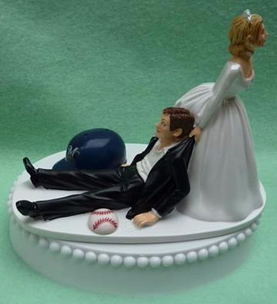 Wedding Cake Topper - Milwaukee Brewers Baseball Themed