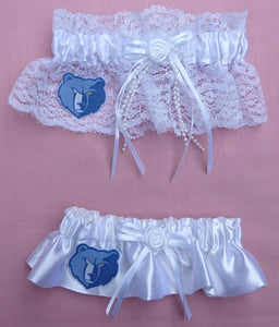 Memphis Grizzlies Garter Wedding Garters Bridal NBA Basketball Sports Fans Bride Groom