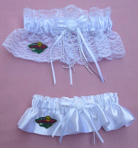 Minnesota Wild Garters Wedding NHL Hockey Bridal Garter Set Sports Fun