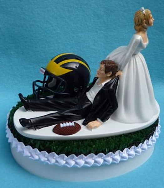 Wedding Cake Topper - University of Michigan Wolverines Football Themed