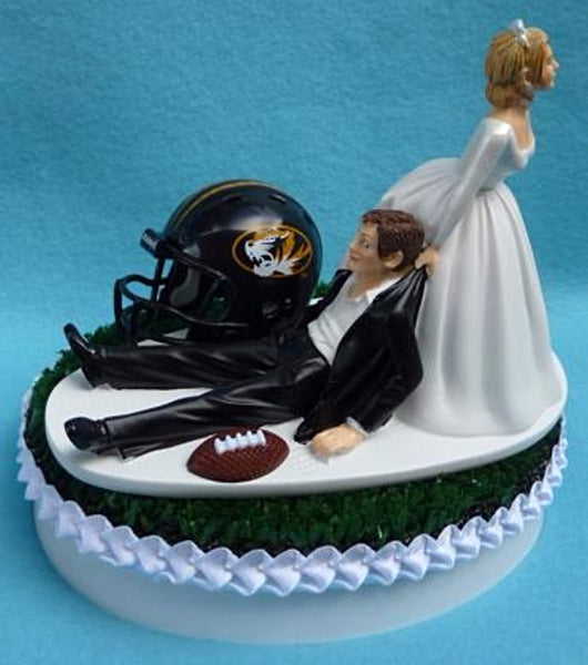 Wedding Cake Topper - University of Missouri Tigers Football Themed Mizzou
