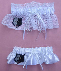 Minnesota Timberwolves Garters Wedding Garter Bridal Set Basketball NBA Fun