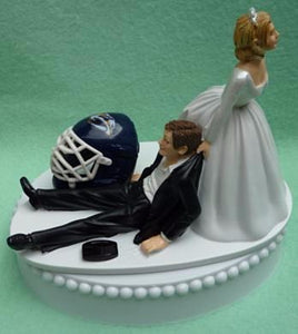 Wedding Cake Topper - Nashville Predators Hockey Themed Preds
