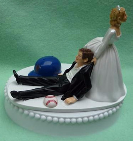 New York Mets wedding cake topper NY groom's cake MLB baseball sports fans fun humorous funny