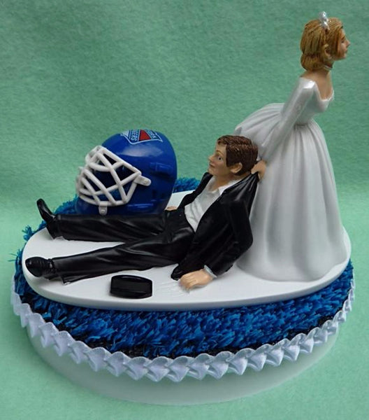 Wedding Cake Topper - New York Rangers Hockey Themed NY