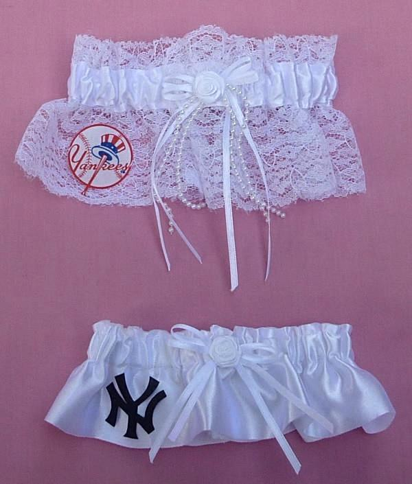 New York Yankees Garter Wedding Garters NY Baseball MLB Bride Groom Reception Sports Fan Fun