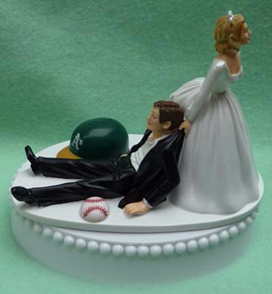 Wedding Cake Topper - Oakland A's Athletics Baseball Themed