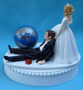Orlando Magic wedding cake topper NBA basketball sports fans fun humorous Fun Wedding Things unique groom's cake top reception