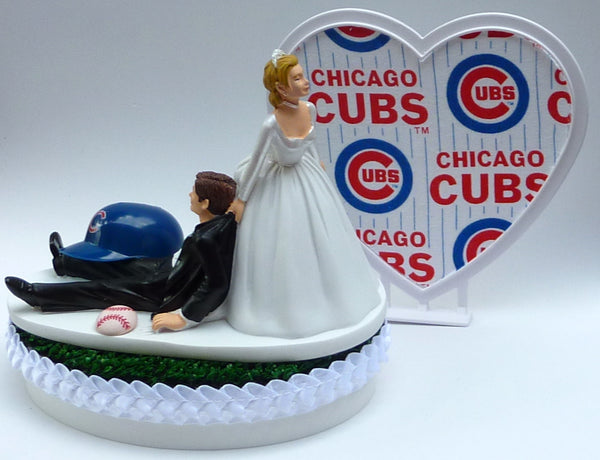 Wedding Cake Topper - Chicago Cubs Baseball Themed