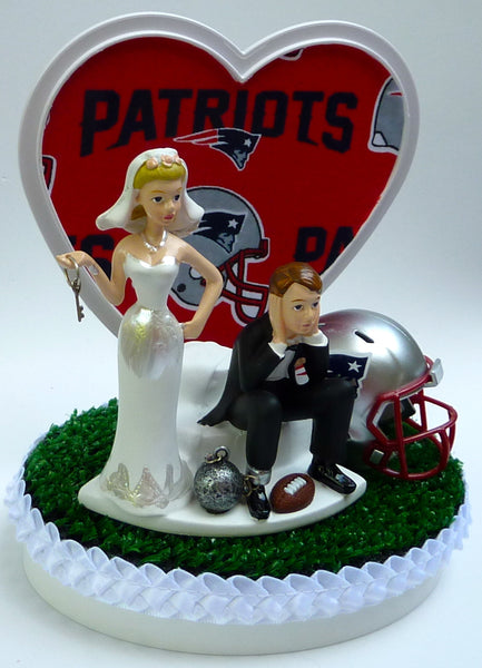 Wedding Cake Topper - New England Patriots Football Themed Key