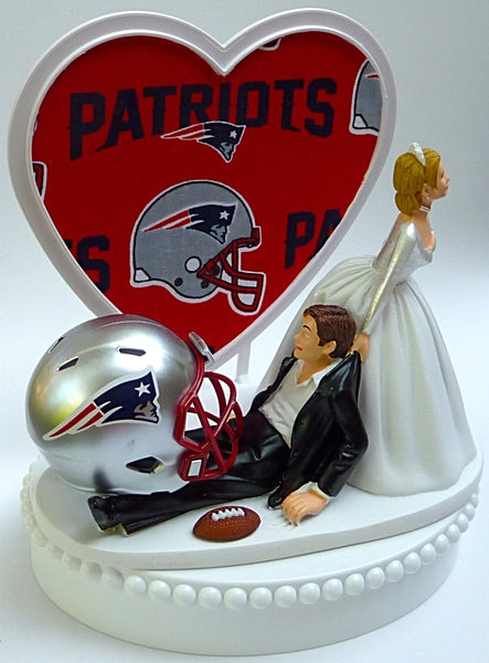 Wedding Cake Topper - New England Patriots Football Themed Pats