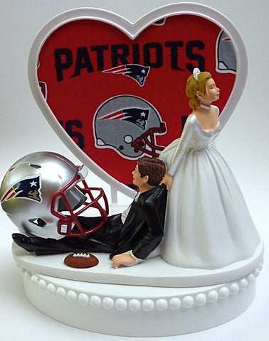 New England Patriots wedding cake topper Pats groom's cake top NFL football fans sports fun