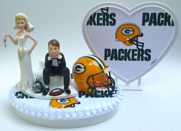 Wedding Cake Topper - Green Bay Packers Football Themed Key