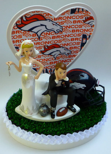 Wedding Cake Topper - Denver Broncos Football Themed Key