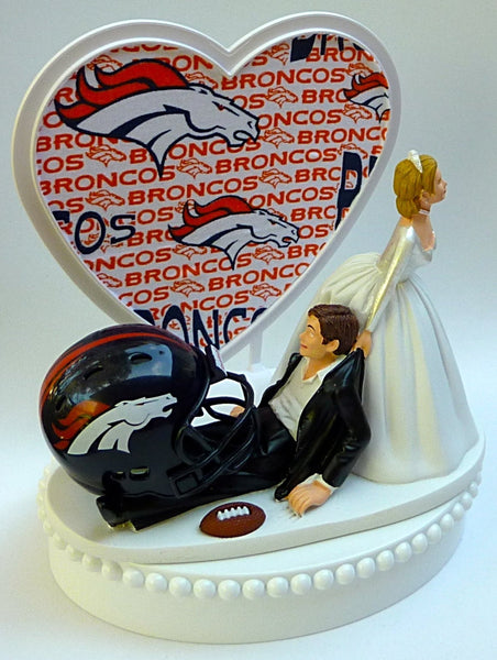 Wedding Cake Topper - Denver Broncos Football Themed