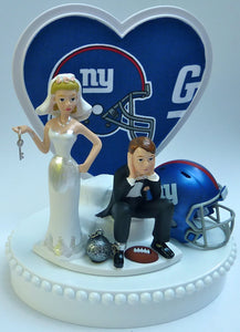 Wedding Cake Topper - New York Giants Football Themed Key NY