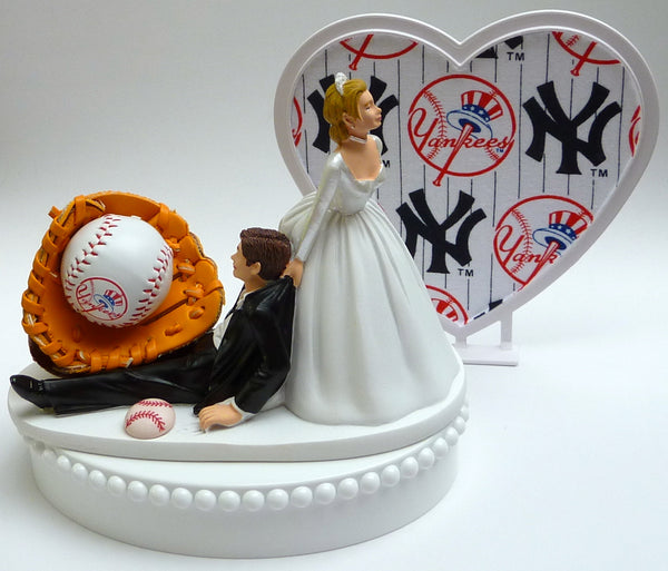 Wedding Cake Topper - New York Yankeess Baseball Themed NY
