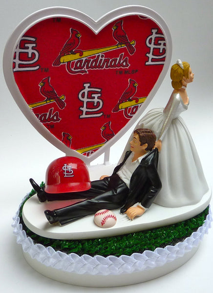 Wedding Cake Topper - St. Louis Cardinals Baseball Themed Saint