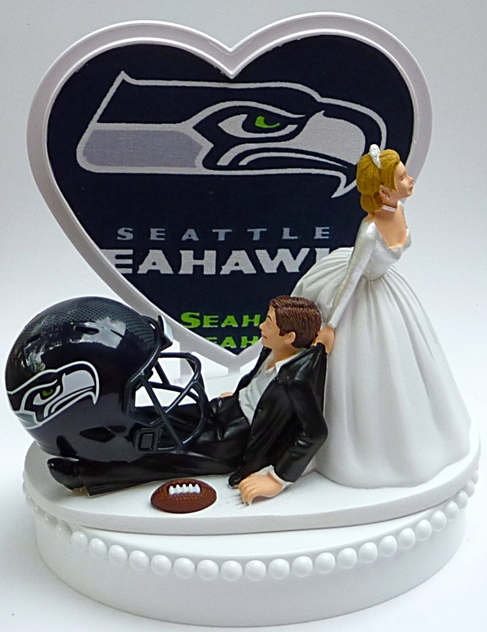 Wedding Cake Topper - Seattle Seahawks Football Themed