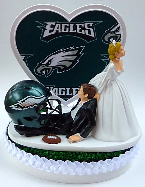Philadelphia Eagles Wedding Cake Topper FunWeddingThings.com Football NFL Fans Sports