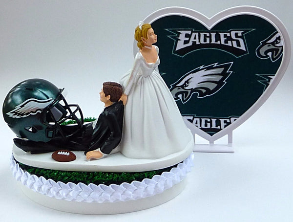 Wedding Cake Topper - Philadelphia Eagles Football Themed