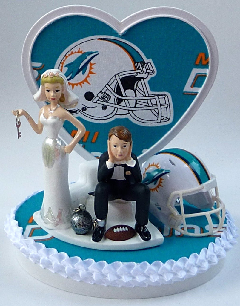 Pleasing Wedding Cake Topper Miami Dolphins Football Themed Key Personalised Birthday Cards Paralily Jamesorg