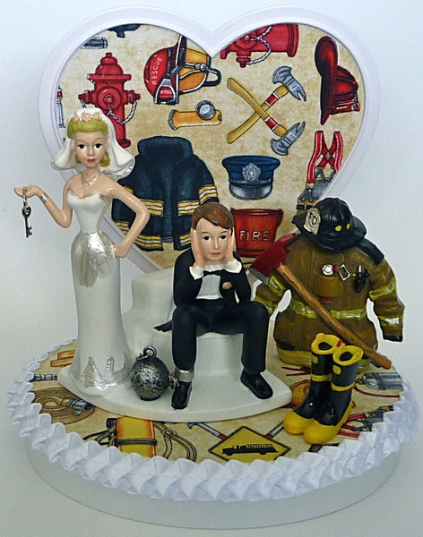 Fire department wedding cake topper Fun Wedding Things
