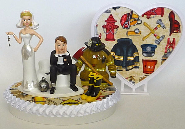 Firefighter wedding cake topper Fun Wedding Things