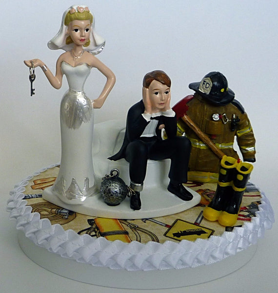 Firefighter cake topper Fun Wedding Things