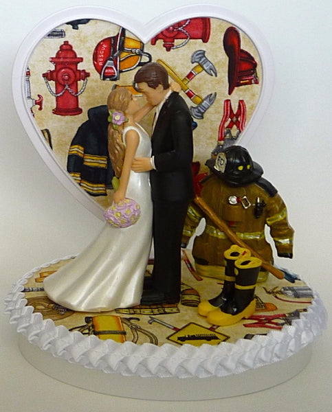 Fireman wedding cake topper firefighter groom's cake top