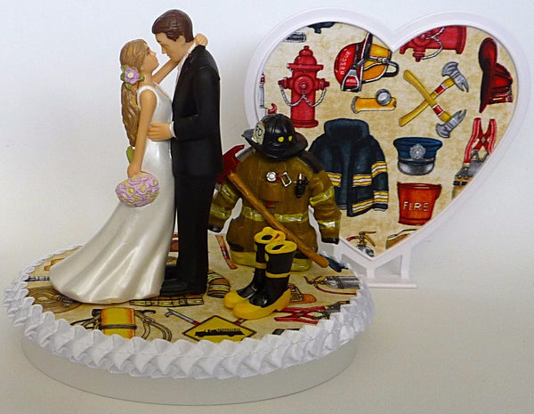 First responder wedding cake topper Fun Wedding Things fireman firefighter