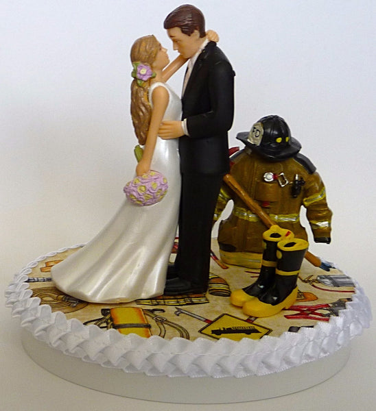 Firefighter cake topper fireman wedding cake topper Fun Wedding Things
