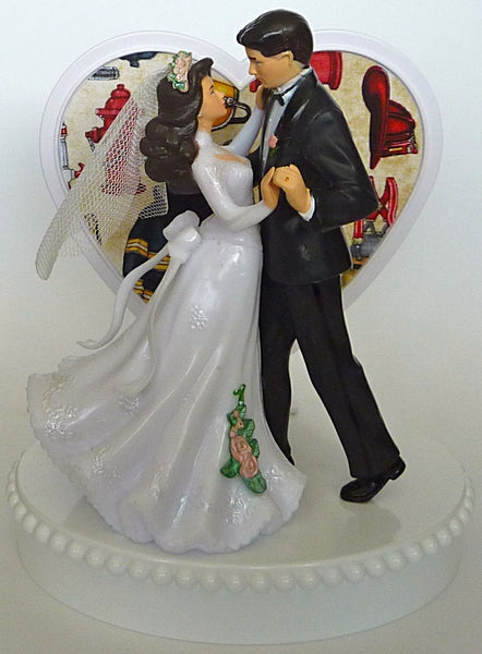 Fire department wedding cake topper FunWeddingThings.com