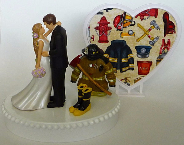 Fun Wedding Things fire department wedding cake topper fireman groom's cake top